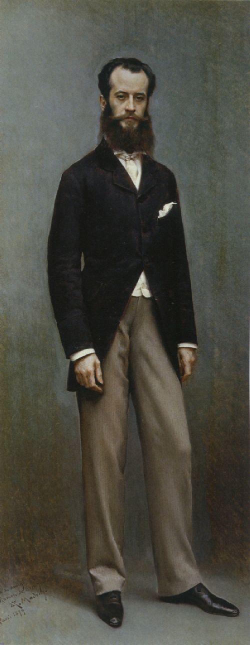 Portrait of Ramon de Errazu | Jean Louis Ernest Meissonier | oil painting