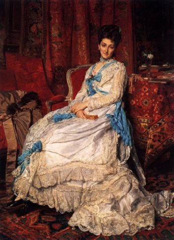 Portrait of Marquesa de Manzanedo | Jean Louis Ernest Meissonier | oil painting