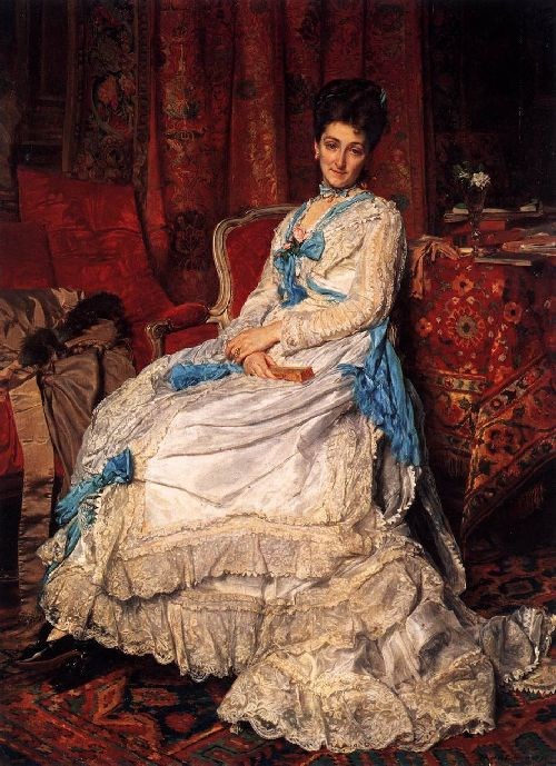 Portrait of Marquesa de Manzanedo | Jean Louis Ernest Meissonier | oil painting