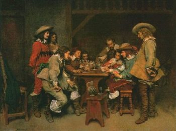 A Game of Piquet | Jean Louis Ernest Meissonier | oil painting