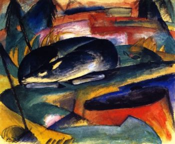 Sleeping Deer | Franz Marc | oil painting