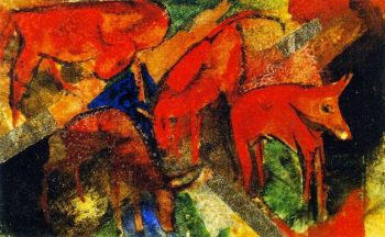 Red Cattle | Franz Marc | oil painting