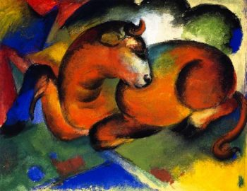 Red Bull | Franz Marc | oil painting