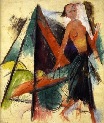 Miranda Figure for Shakespeares Tempest | Franz Marc | oil painting