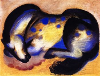 Lying Horse | Franz Marc | oil painting
