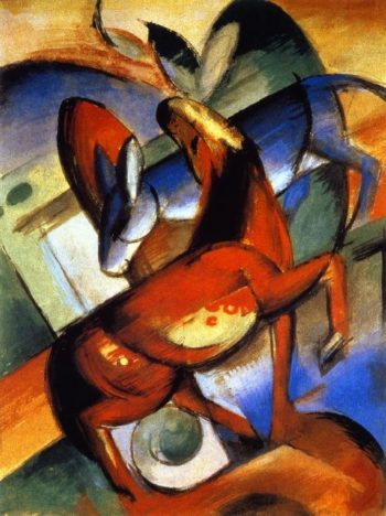 Horse and Donkey | Franz Marc | oil painting