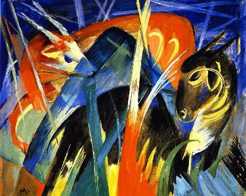 Fabulous Beast II | Franz Marc | oil painting