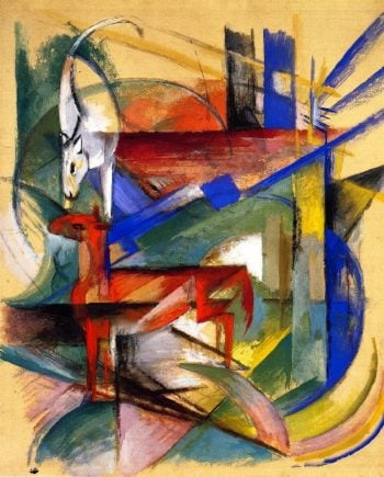 Composition of Animals II | Franz Marc | oil painting