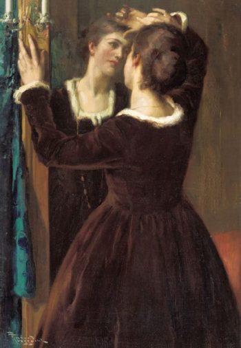 Weerspiegelingen Mirror | Fernand Toussaint | oil painting