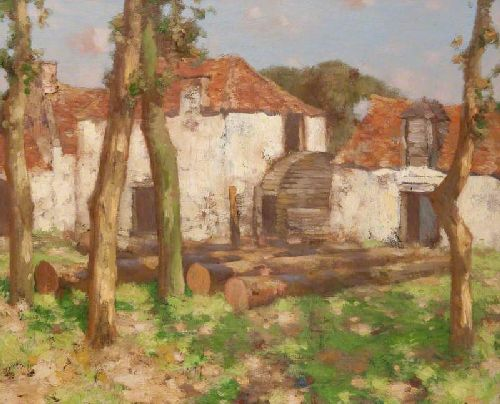 Watermill in France | David Gauld | oil painting