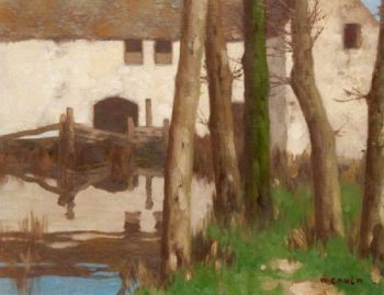 Mill Lade | David Gauld | oil painting