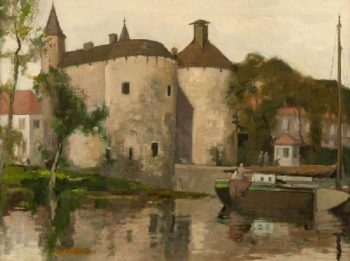 A Chateau in Bruges | David Gauld | oil painting