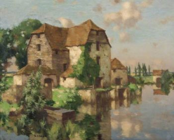 A Berkshire Mill | David Gauld | oil painting