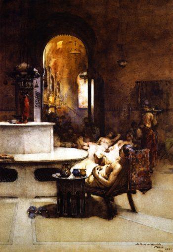 The Turkish Bath Paris   Arthur Melville   oil painting