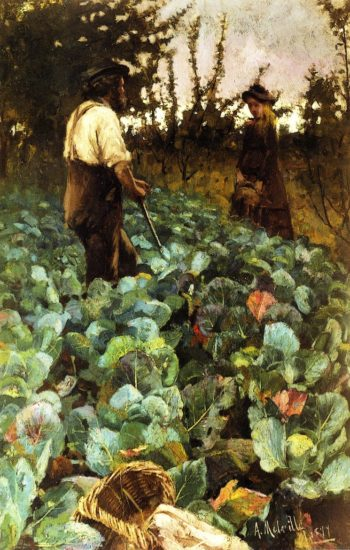 A Cabbage Garden | Arthur Melville | oil painting