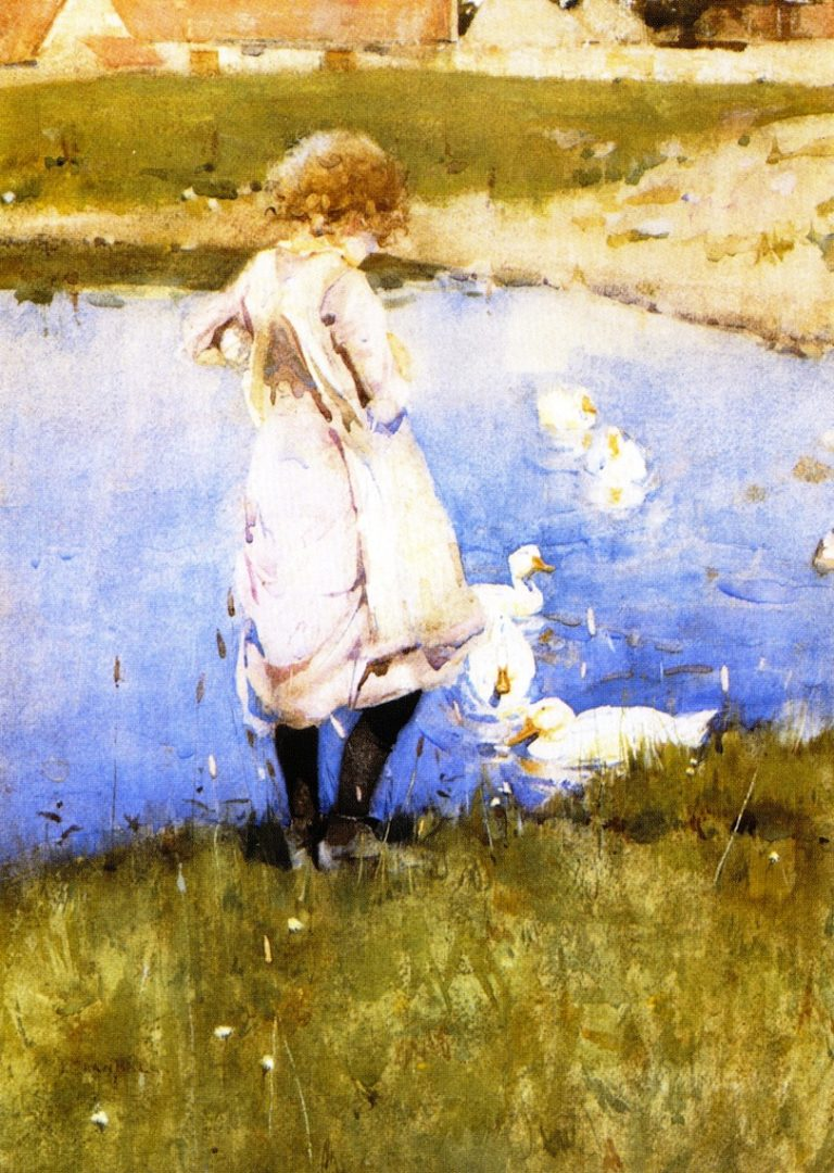 The Duckpond | Joseph Crawhall | oil painting