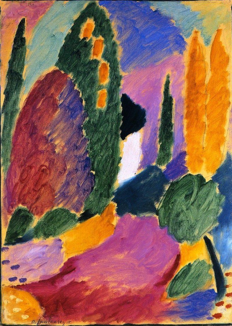 Variation Whitsun Morning   Alexei Jawlensky   oil painting