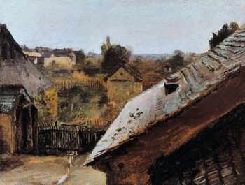 View of Roofs and Gardens   Carl Blechen   oil painting