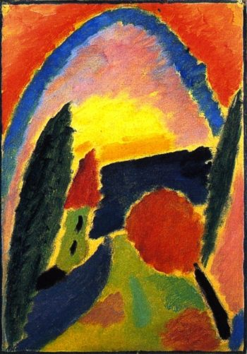 Variation with Church Steeple | Alexei Jawlensky | oil painting