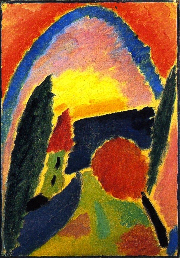 Variation with Church Steeple | Alexei Jawlensky | oil painting