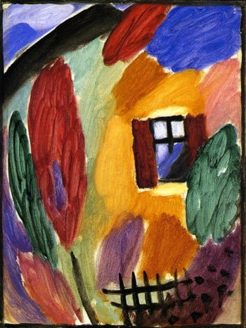 Variation with House and Garden Fence | Alexei Jawlensky | oil painting
