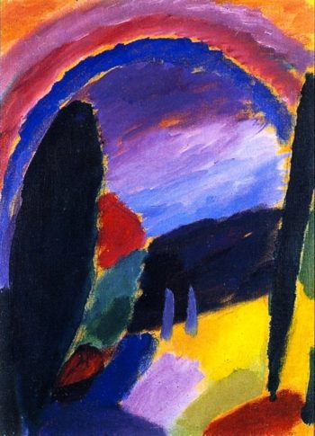 Variation with Rainbow | Alexei Jawlensky | oil painting