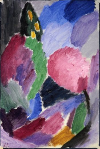 Large Variation A Blowing Gale | Alexei Jawlensky | oil painting
