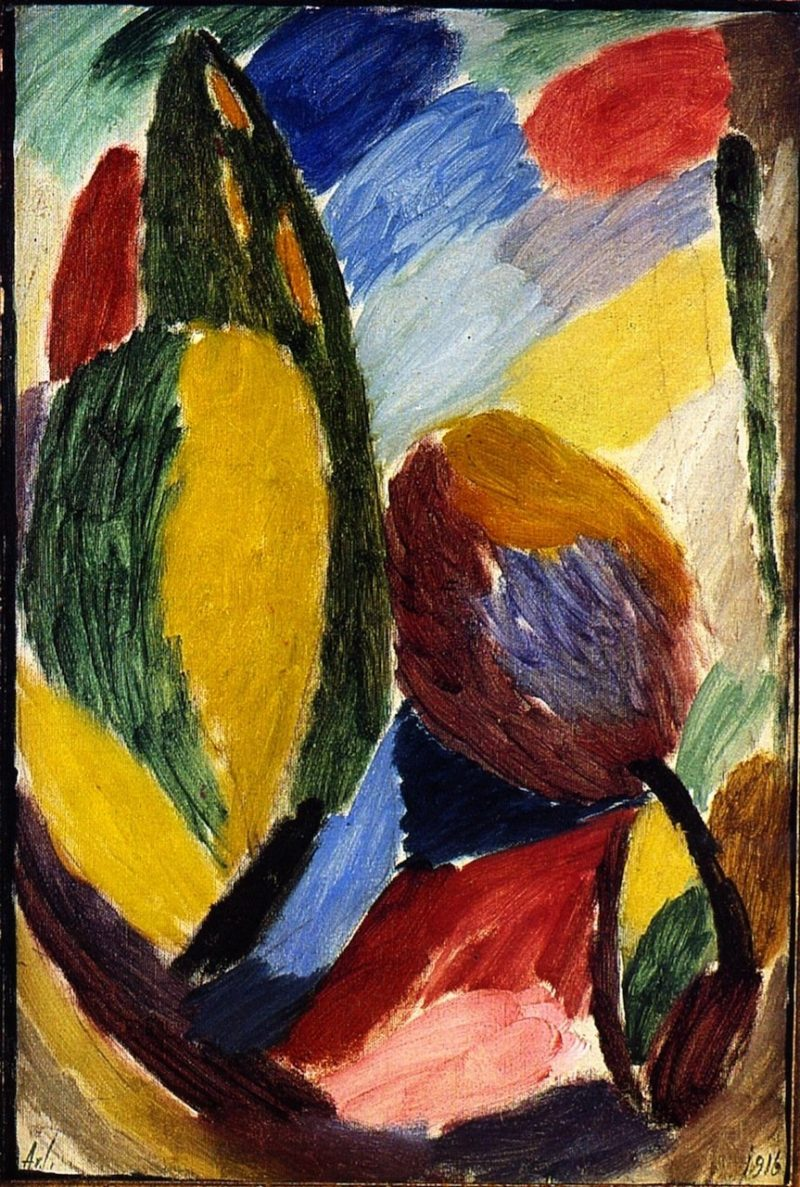 Large Variation Green Glimmer | Alexei Jawlensky | oil painting