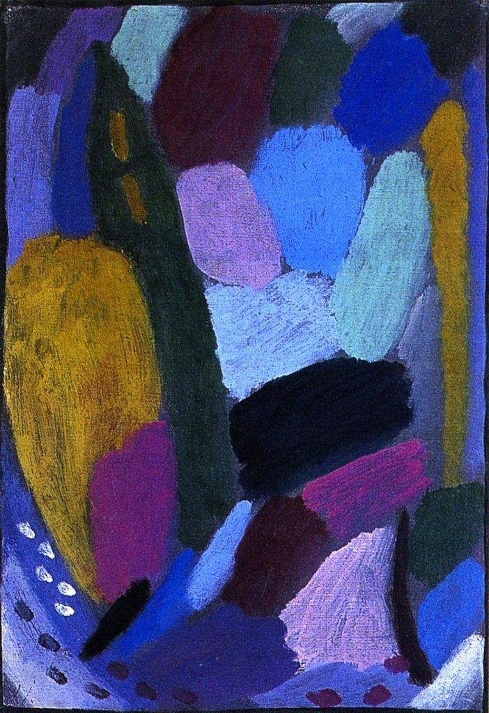 Variation Twilight   Alexei Jawlensky   oil painting