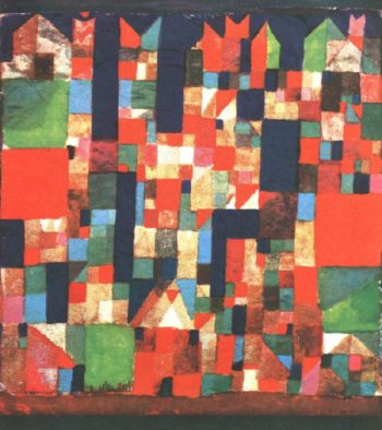 City Picture with Red and Green Accents, 1921 Paul Klee