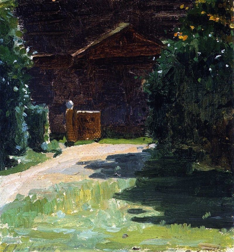 Entrance to Ansbaki | Alexei Jawlensky | oil painting