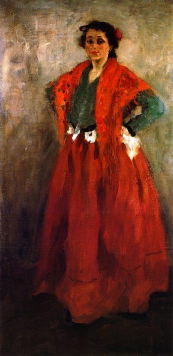 Helene in Spanish Costume   Alexei Jawlensky   oil painting