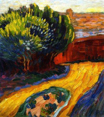 Garden Path in Carantec | Alexei Jawlensky | oil painting