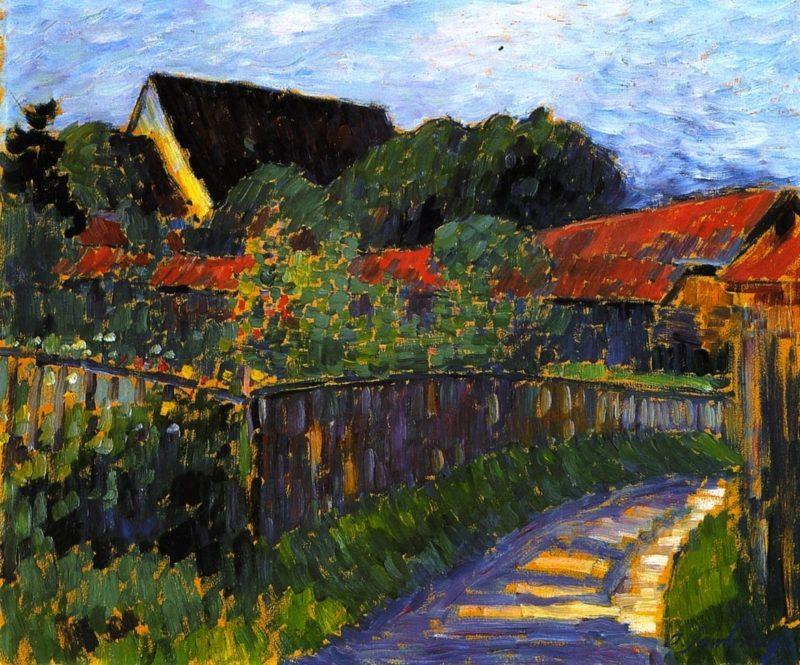 Farmhouse Garden   Alexei Jawlensky   oil painting