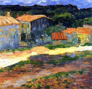 Landscape with Houses in Provence | Alexei Jawlensky | oil painting