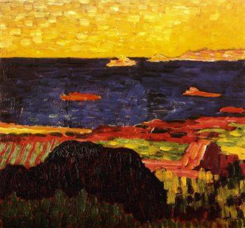 Mediterranean Coast | Alexei Jawlensky | oil painting