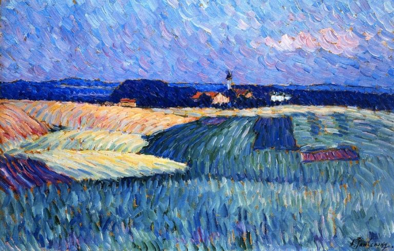 Village in Bavaria   Alexei Jawlensky   oil painting