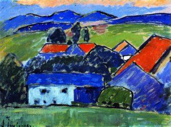 Landscape Murnau   Alexei Jawlensky   oil painting