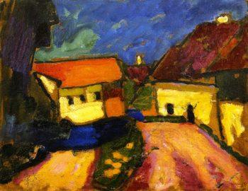 Landscape Sketch Village Road | Alexei Jawlensky | oil painting