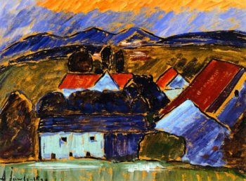 Landscape with Red Roof | Alexei Jawlensky | oil painting