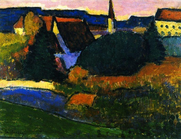View of Murnau | Alexei Jawlensky | oil painting