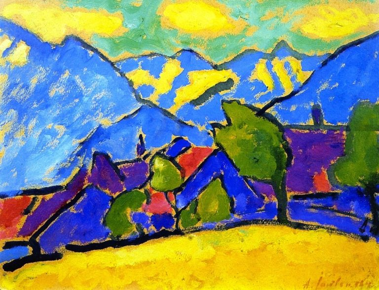 Yellow Sound | Alexei Jawlensky | oil painting