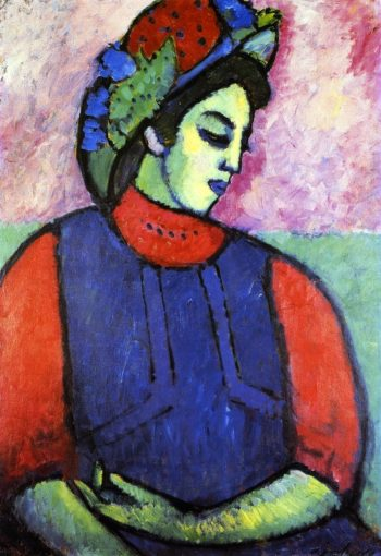 Girl in Grey Apron | Alexei Jawlensky | oil painting