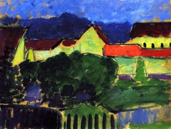 Green Houses | Alexei Jawlensky | oil painting