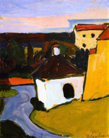 White Chapel in Murnau | Alexei Jawlensky | oil painting