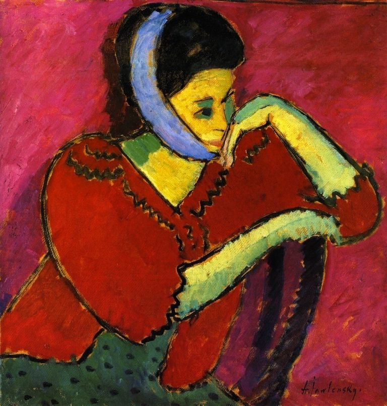 Woman with Head Bandage | Alexei Jawlensky | oil painting