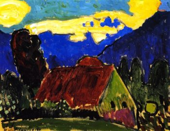 Yellow Clouds over Farmhouse | Alexei Jawlensky | oil painting