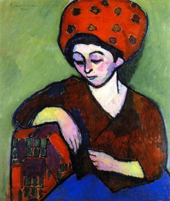 Helene in Colored Turban   Alexei Jawlensky   oil painting