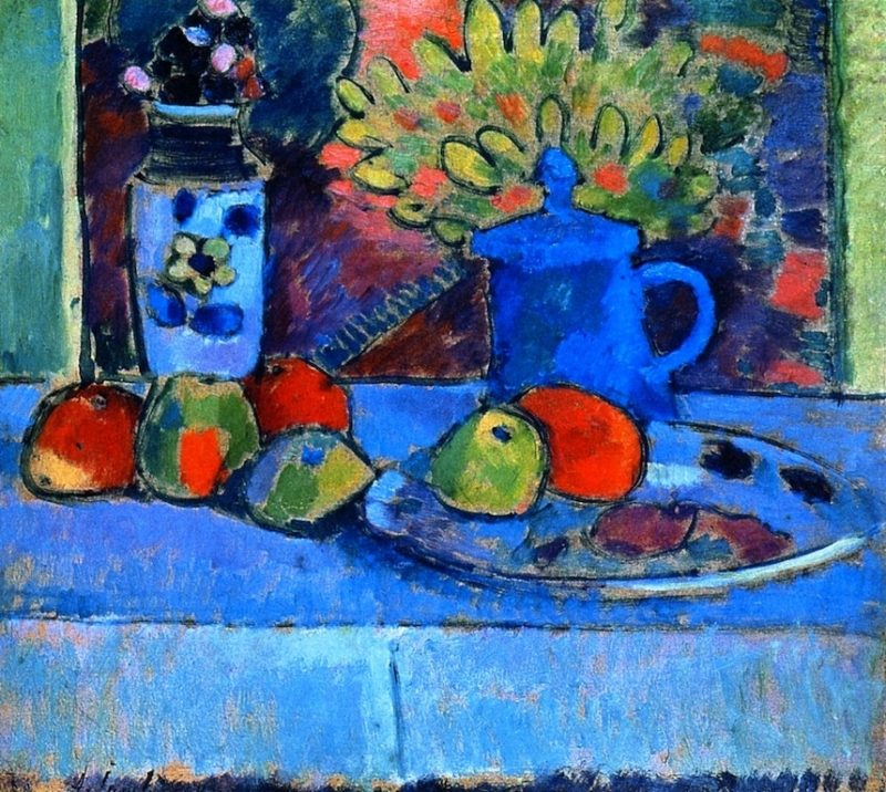 Still LIfe with Flowers and Fruit | Alexei Jawlensky | oil painting