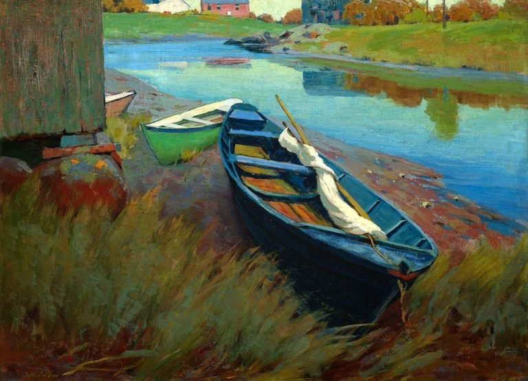 Boats at Rest | Arthur Wesley Dow | oil painting